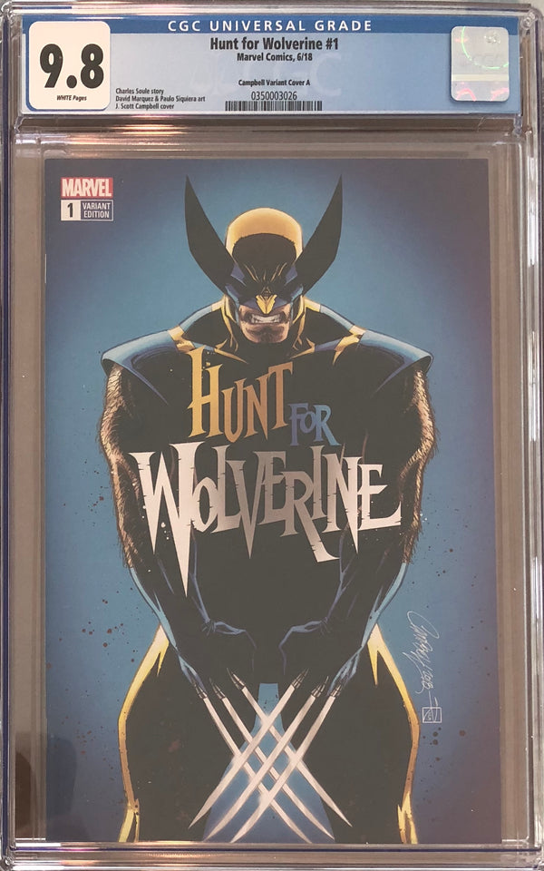 Hunt For Wolverine #1 J. Scott Campbell Calgary Expo Exclusive CGC 9.8