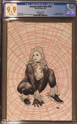 Amazing Spider-Man #799 Frank Cho Ballpoint Pen Virgin Exclusive CGC 9.9