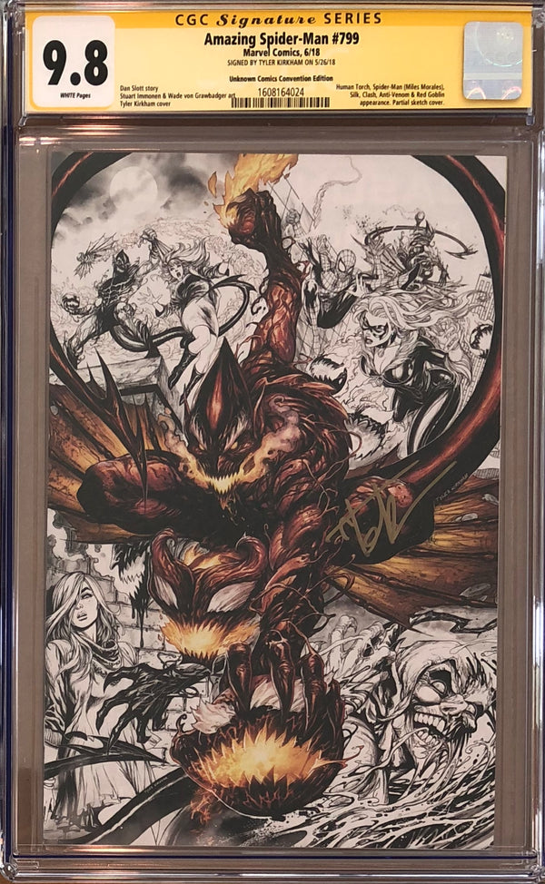 Amazing Spider-Man #799 Unknown Comics MegaCon Partial Sketch Exclusive CGC 9.8 SS