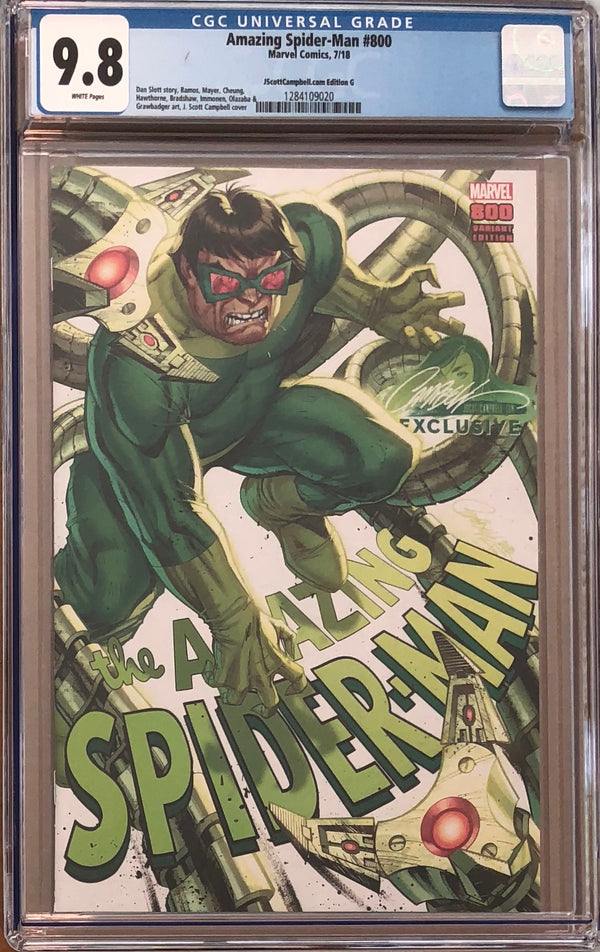"Amazing Spider-Man #800 J. Scott Campbell Edition G ""Dr. Octopus"" Exclusive CGC 9.8"