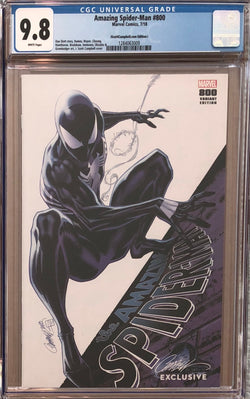 "Amazing Spider-Man #800 J. Scott Campbell Edition I ""Black Spider-Man"" SDCC Exclusive CGC 9.8"