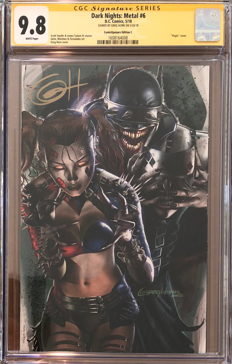 Dark Nights: Metal #6 Greg Horn ComicXposure Edition C CGC 9.8 SS