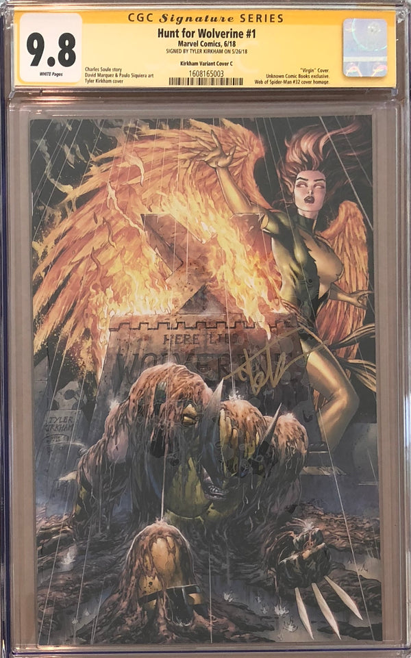 Hunt For Wolverine #1 Tyler Kirkham Virgin Exclusive CGC 9.8 SS