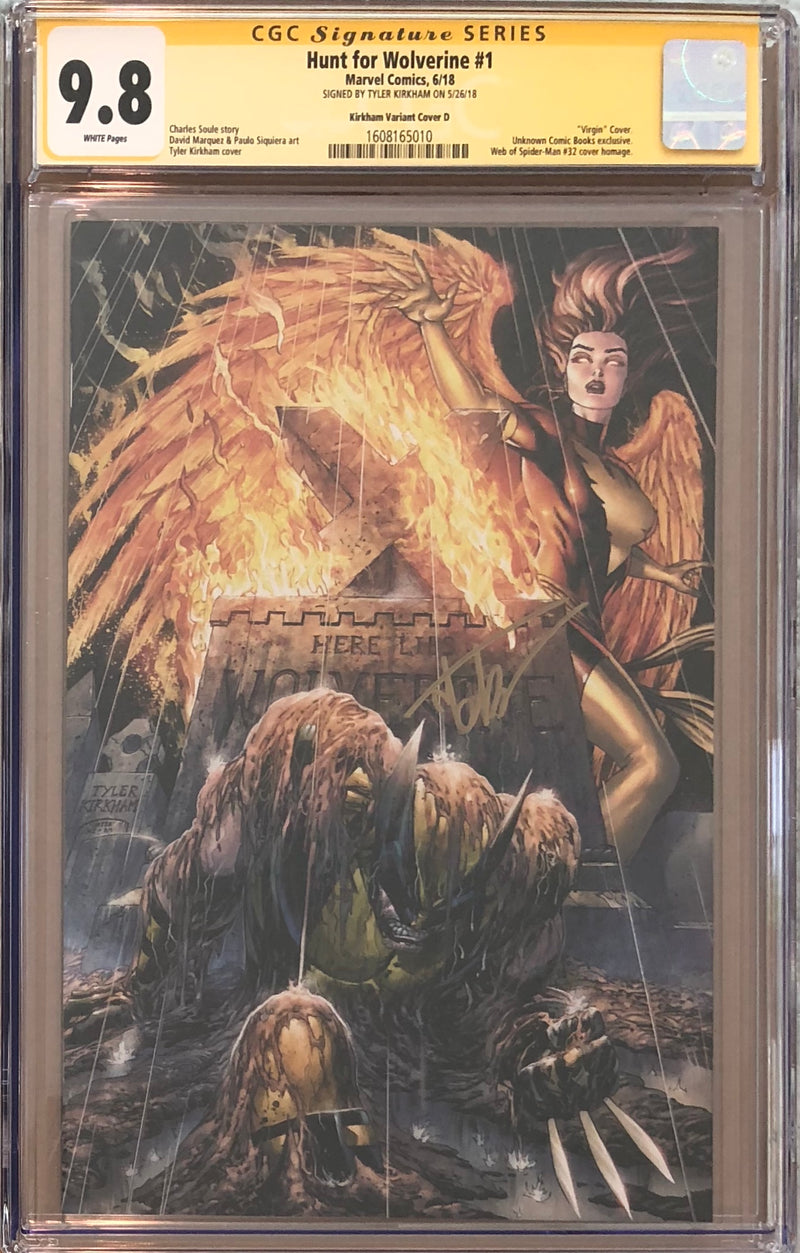 "Hunt For Wolverine #1 Tyler Kirkham Virgin ""Red"" MegaCon Exclusive CGC 9.8 SS"