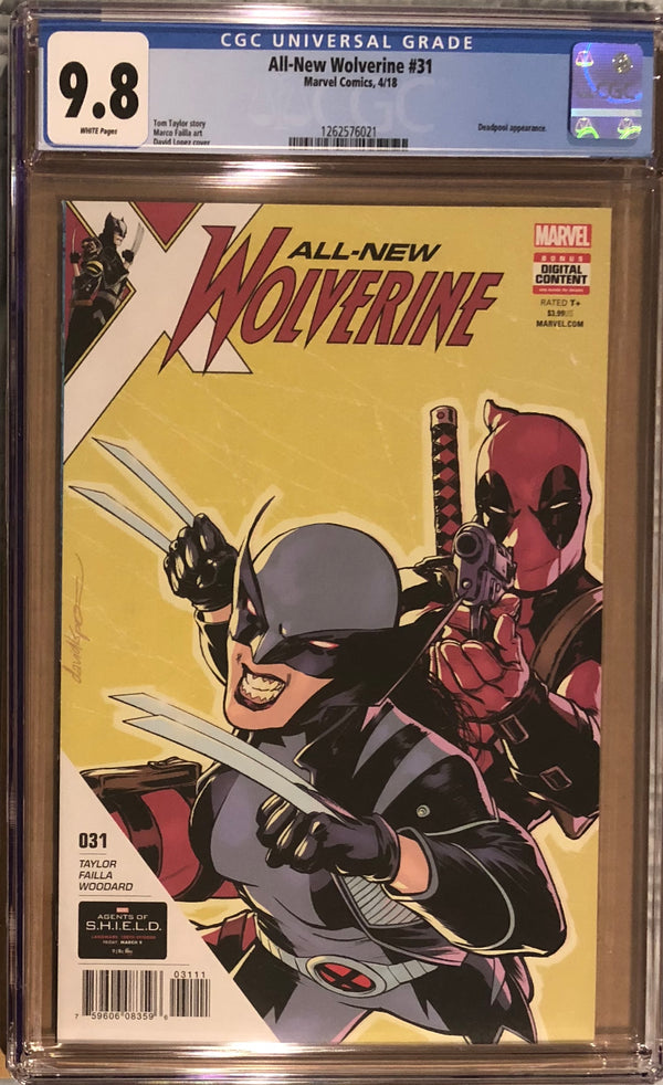 All-New Wolverine #31 CGC 9.8
