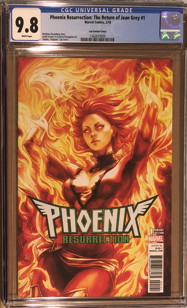"Phoenix Resurrection: The Return of Jean Grey #1 Stanley ""Artgerm"" Lau Variant CGC 9.8"