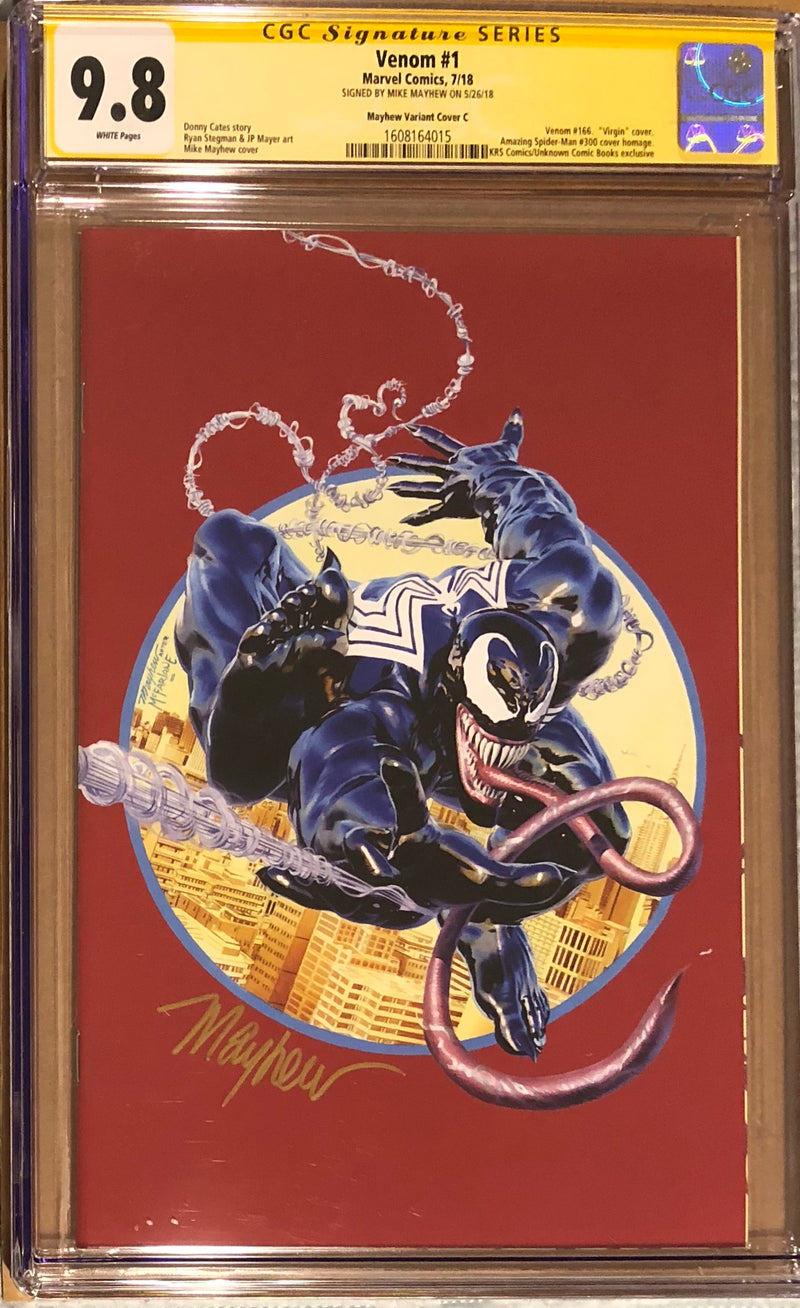 Venom #1 Mike Mayhew Red Virgin Exclusive CGC 9.8 SS