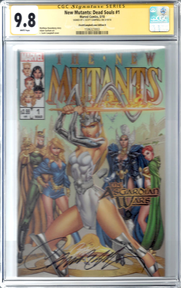 New Mutants: Dead Souls #1 J. Scott Campbell Edition B Variant Exclusive CGC 9.8 SS