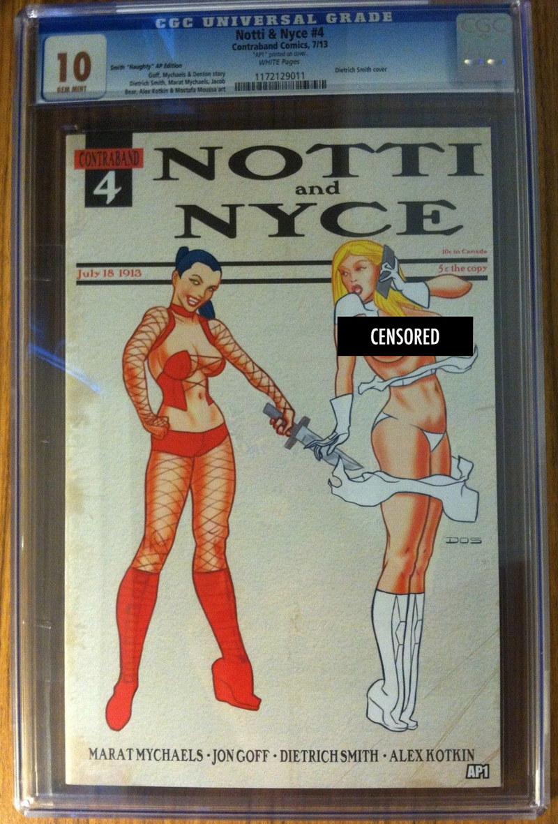 Notti & Nyce #4 Smith Naughty AP Exclusive CGC 10.0