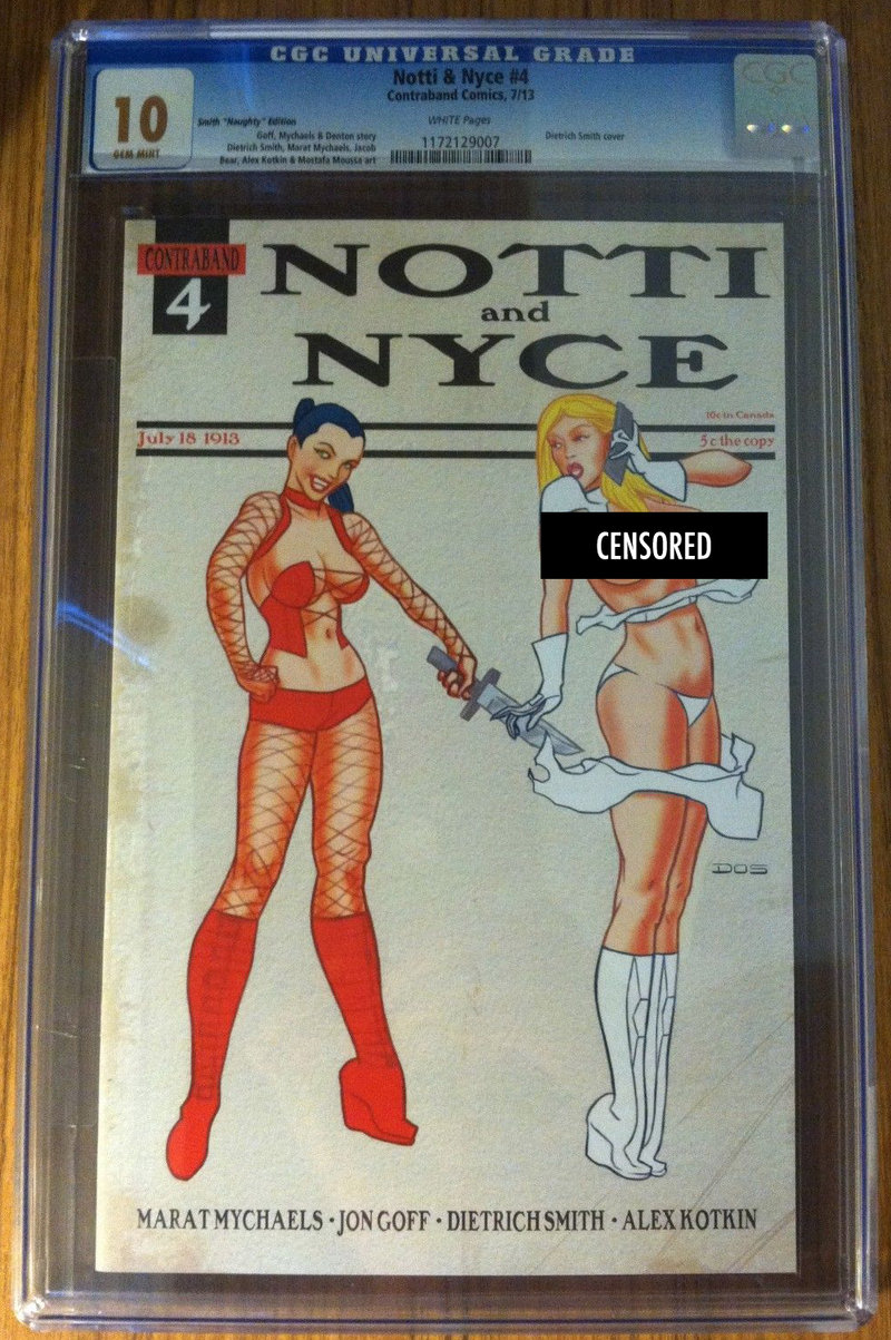 Notti & Nyce #4 Smith Naughty Exclusive CGC 10.0