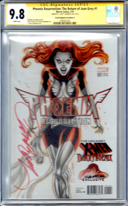 Phoenix Resurrection: The Return of Jean Grey #1 J. Scott Campbell Edition H Variant CGC 9.8 SS