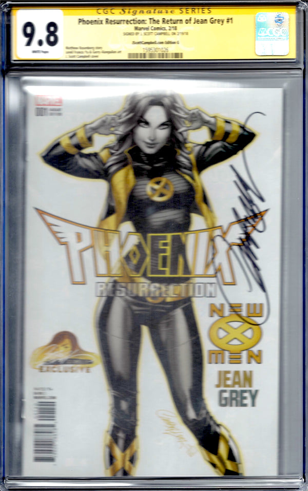 Phoenix Resurrection: The Return of Jean Grey #1 J. Scott Campbell Edition G Variant CGC 9.8 SS