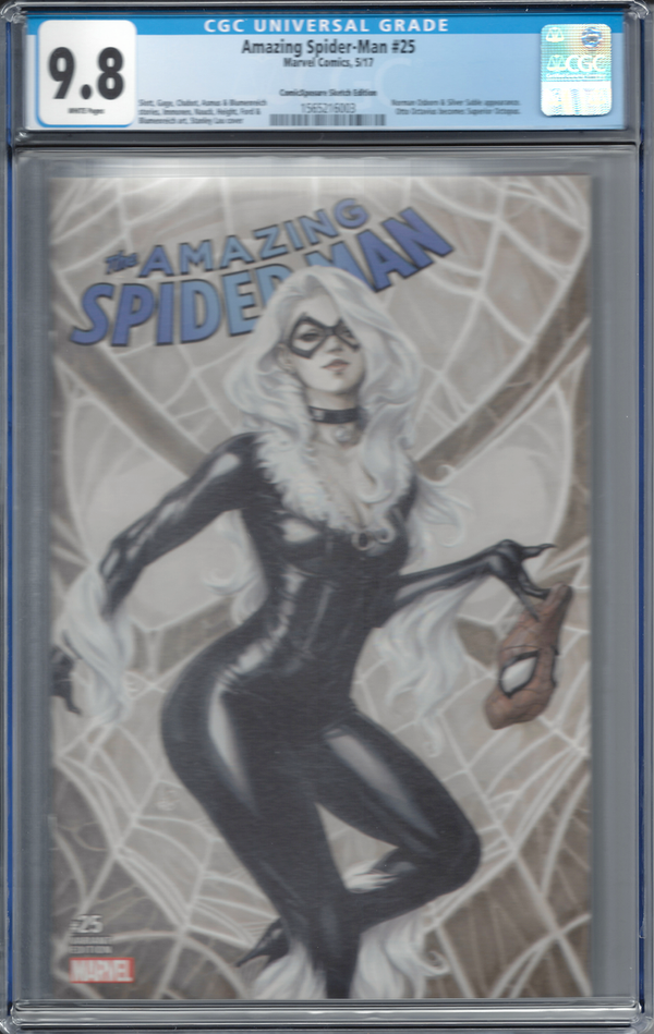 Amazing Spider-Man #25 ComicXposure Artgerm Copics Sketch Edition CGC 9.8