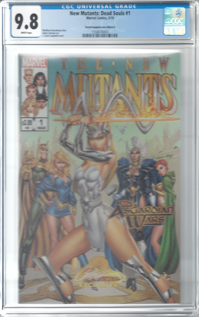 New Mutants: Dead Souls #1 J. Scott Campbell Edition B Variant Exclusive CGC 9.8