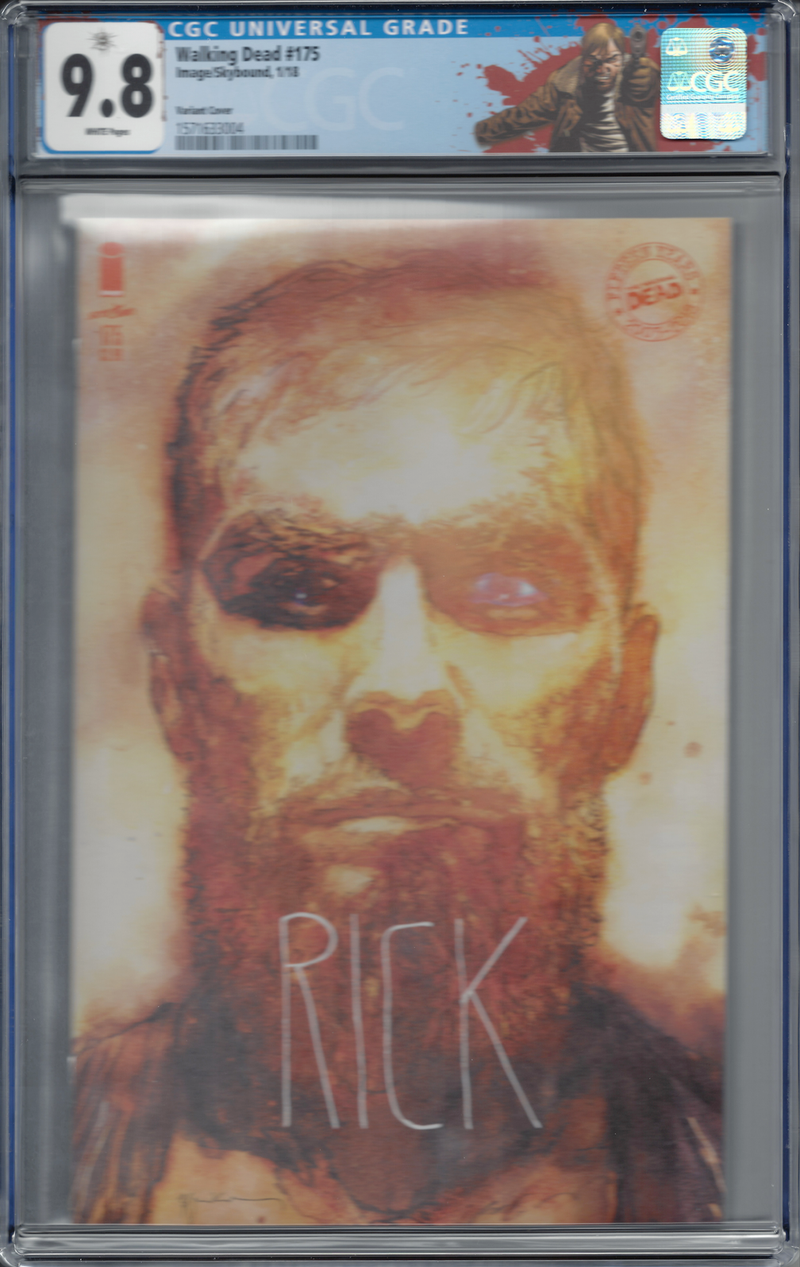 "The Walking Dead #175 ""Rick"" Sienkiewicz Variant with ""Rick"" Custom Label CGC 9.8"