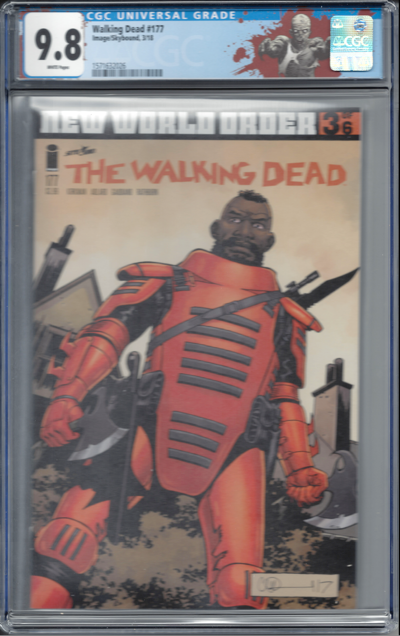 "The Walking Dead #177 with ""Walker"" Custom Label CGC 9.8 - First Sebastian"