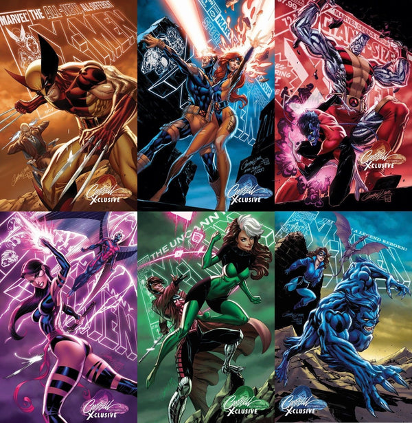 Uncanny X-Men #1 J. Scott Campbell Edition A-F Exclusive Set