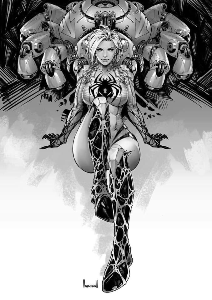 White Widow #1 Kael Ngu Convention Black & White Virgin Exclusive