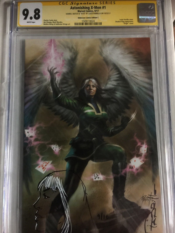 Astonishing X-Men #1 Unknown Comics C Virgin Variant CGC 9.8 SS Sketched Rogue #9/10