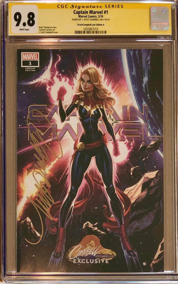 Captain Marvel #1 J. Scott Campbell Edition A Exclusive CGC 9.8 SS