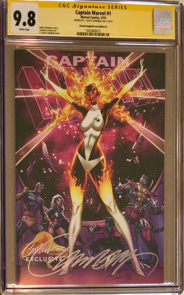 "Captain Marvel #1 J. Scott Campbell Edition D ""Binary"" Exclusive CGC 9.8 SS"