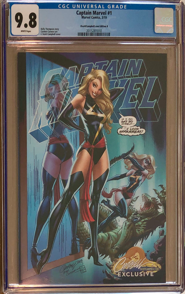 "Captain Marvel #1 J. Scott Campbell Edition B ""Warbird"" Exclusive CGC 9.8"
