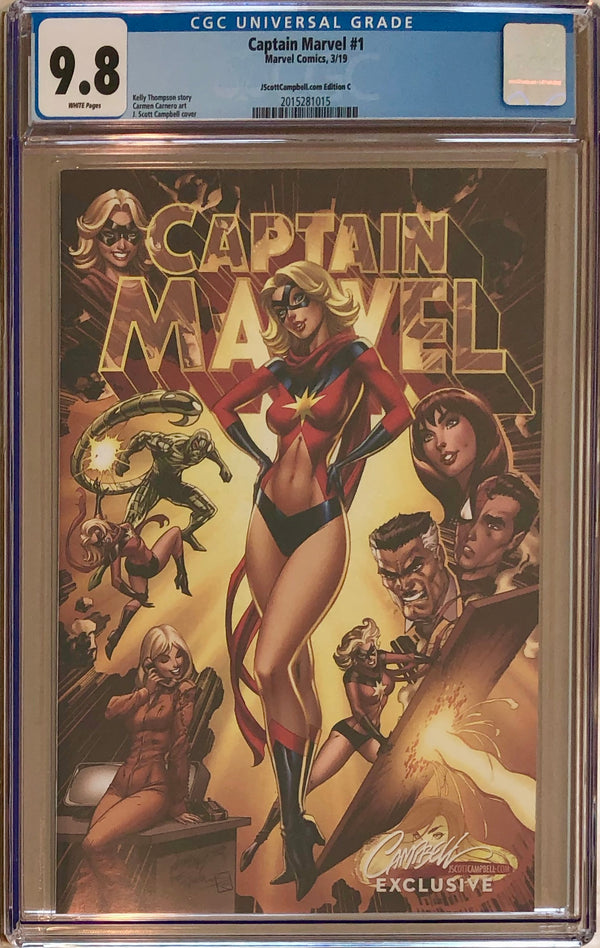 "Captain Marvel #1 J. Scott Campbell Edition C ""Golden Era"" Exclusive CGC 9.8"