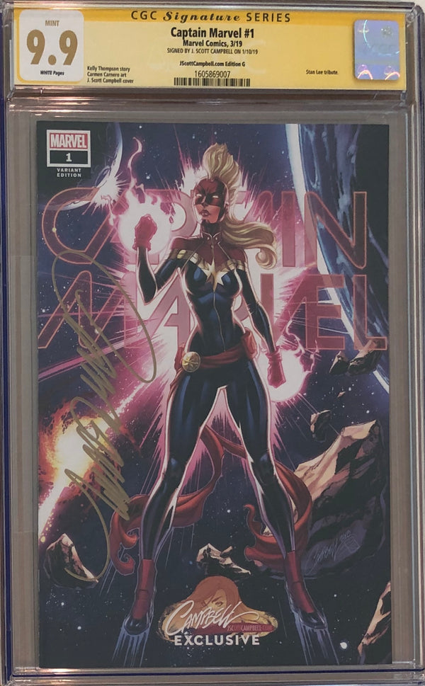 Captain Marvel #1 J. Scott Campbell Edition G ECCC Exclusive CGC 9.9 SS