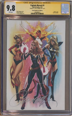 Captain Marvel #1 J. Scott Campbell Edition F ECCC Virgin Exclusive CGC 9.8 SS