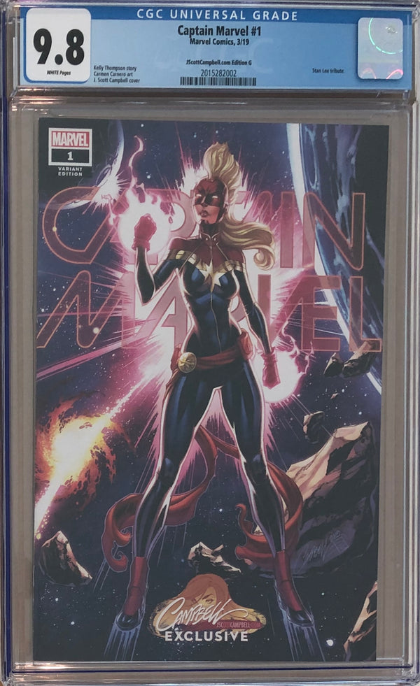 Captain Marvel #1 J. Scott Campbell Edition G ECCC Exclusive CGC 9.8