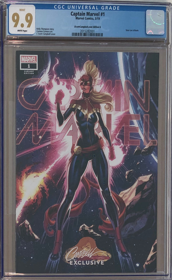 Captain Marvel #1 J. Scott Campbell Edition G ECCC Exclusive CGC 9.9
