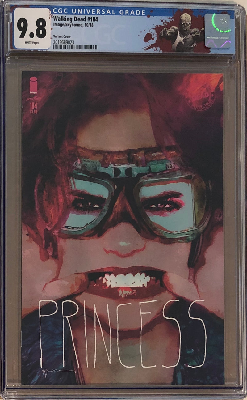 "The Walking Dead #184 Princess Variant CGC 9.8 with ""Walker"" Custom Label"