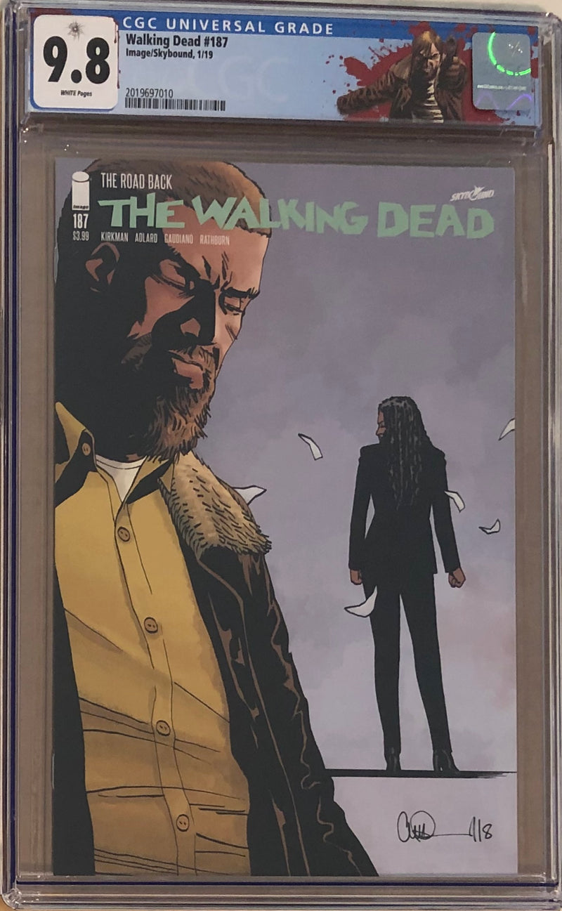 "The Walking Dead #187 CGC 9.8 with ""Rick"" Custom Label"