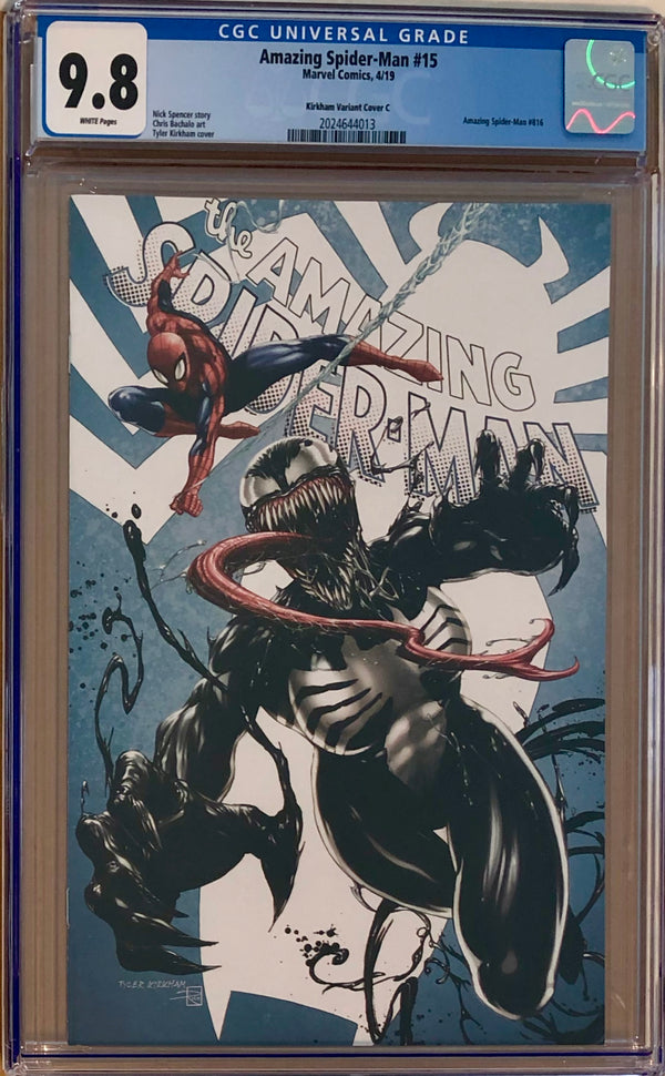 "Amazing Spider-Man #15 Tyler Kirkham Edition C ""She-Venom"" Exclusive CGC 9.8"