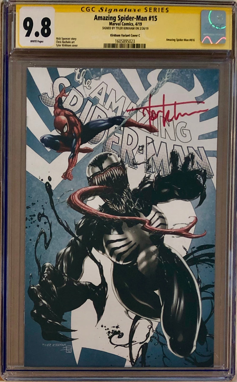 "Amazing Spider-Man #15 Tyler Kirkham Edition C ""She-Venom"" Exclusive CGC 9.8 SS"
