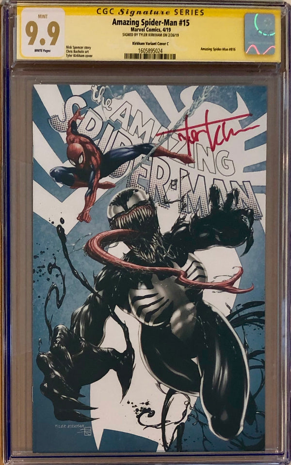 "Amazing Spider-Man #15 Tyler Kirkham Edition C ""She-Venom"" Exclusive CGC 9.9 SS"