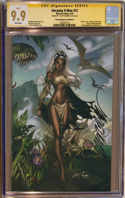 "Uncanny X-Men #12 J. Scott Campbell Edition D ""Storm"" Virgin Exclusive CGC 9.9 SS MINT"