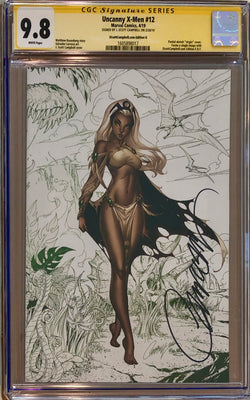 "Uncanny X-Men #12 J. Scott Campbell Edition G ""Storm"" Color Sketch Virgin Exclusive CGC 9.8 SS"
