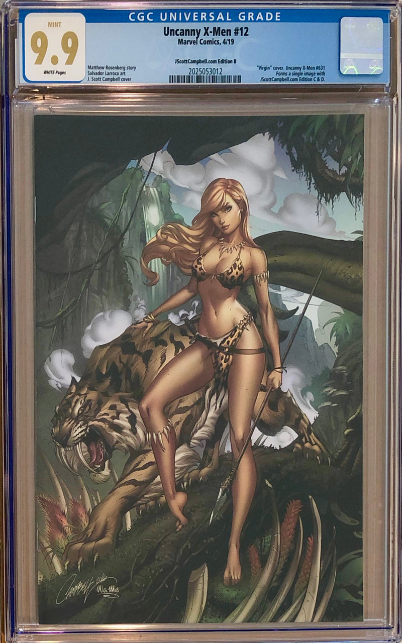 Uncanny X-Men #12 J. Scott Campbell Edition A-G Exclusive Set CGC 9.9 MINT