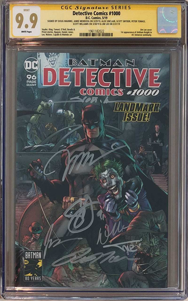 Detective Comics #1000 CGC 9.9 SS - Jim Lee Wraparound Cover - 7x Signed!