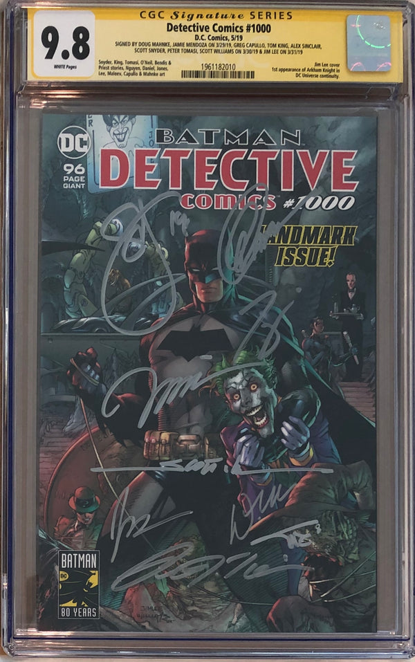 Detective Comics #1000 CGC 9.8 SS - Jim Lee Wraparound Cover - 9x Signed!