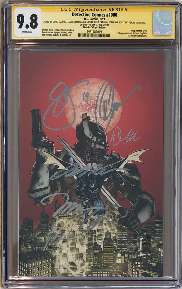 Detective Comics #1000 Doug Mahnke Virgin Exclusive CGC 9.8 SS - 7x Signed!