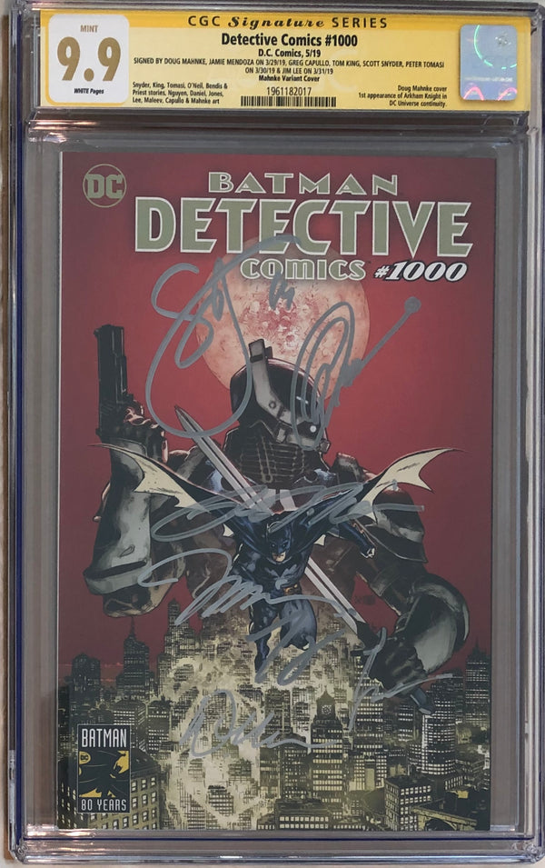 Detective Comics #1000 Doug Mahnke Planet Comicon Exclusive CGC 9.9 SS - 7x Signed!