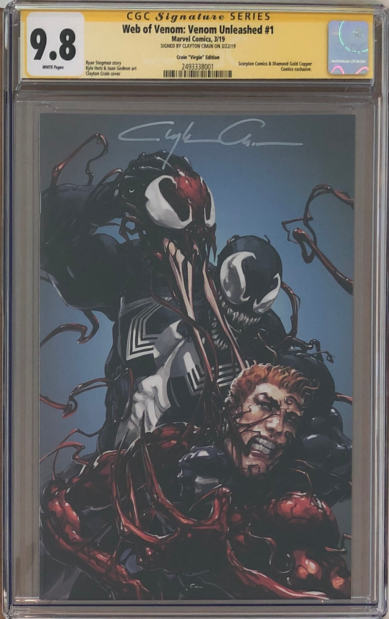 Web of Venom: Venom Unleashed #1 Scorpion Comics Crain Virgin Variant CGC 9.8 SS