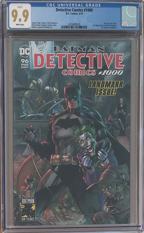 Detective Comics #1000 CGC 9.9 - Jim Lee Wraparound Cover