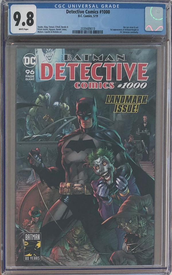 Detective Comics #1000 CGC 9.8 - Jim Lee Wraparound Cover