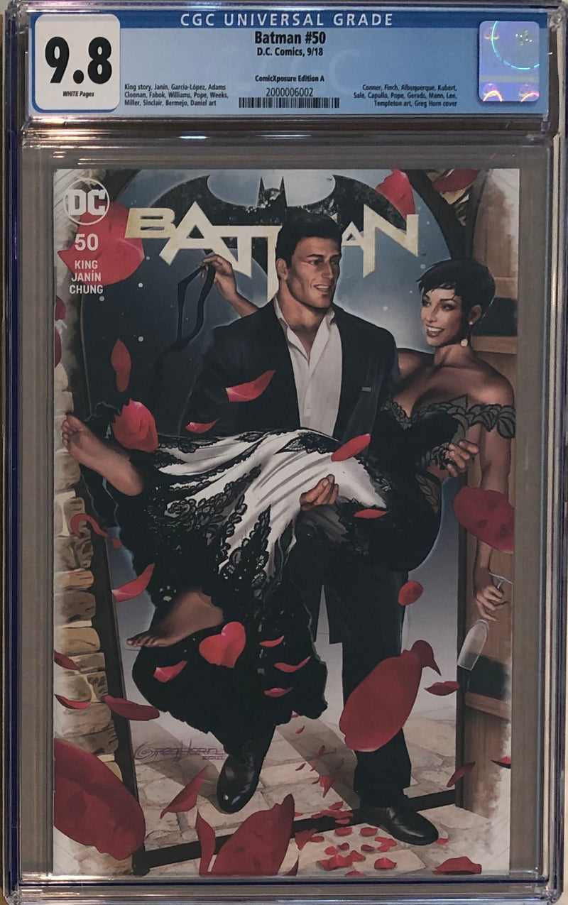Batman #50 ComicXposure Edition A Greg Horn Variant CGC 9.8