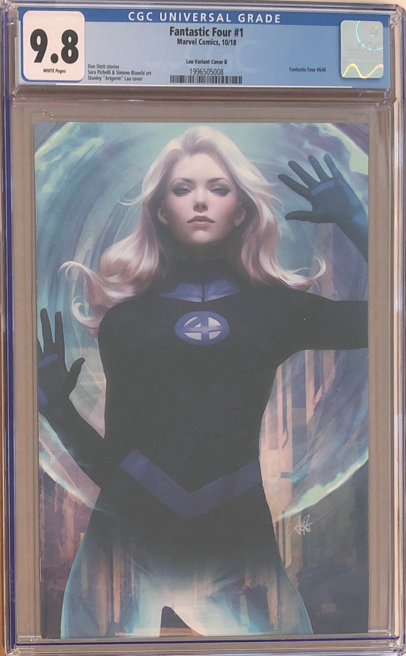 Fantastic Four #1 Stanley Artgerm Lau Virgin B Sue Storm Exclusive CGC 9.8