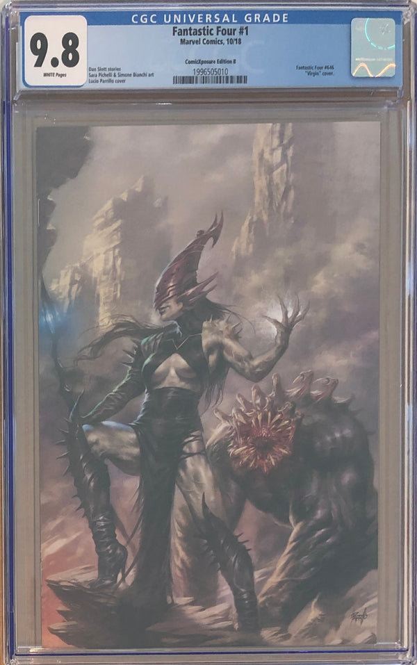 Fantastic Four #1 ComicXposure Edition B Lucio Parrillo Virgin Exclusive CGC 9.8