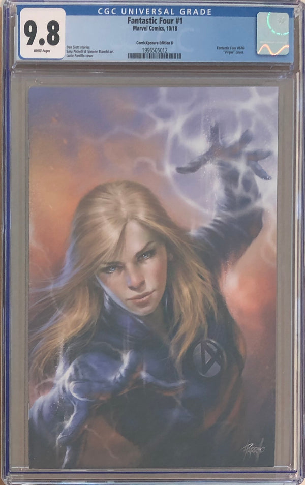 Fantastic Four #1 ComicXposure Edition D Lucio Parrillo Virgin Exclusive CGC 9.8